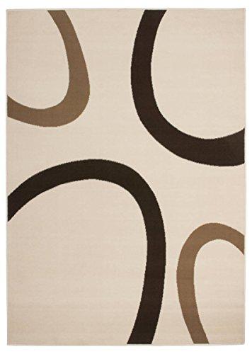 Kayoom 4056216013392 Teppich, 100% Polypropylen-BCF, elfenbein, 170 x 120 cm (Elfenbein-polypropylen-teppich)