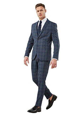 next Uomo Completo A Quadri Vestibilità Skinny: Giacca Blu