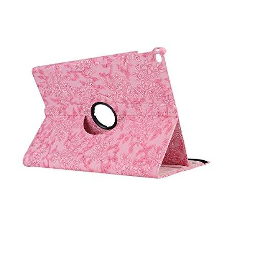 inShang ipad Pro 12.9 inch Hülle Cover für iPad Pro 12.9 inch (2015) , PU Leder Schutzhülle St?nder Smart Cover mit Super Automatische Einschlaf-/Aufwach funktion, case 360 Grad rotierende Schutzhülle Grape pink