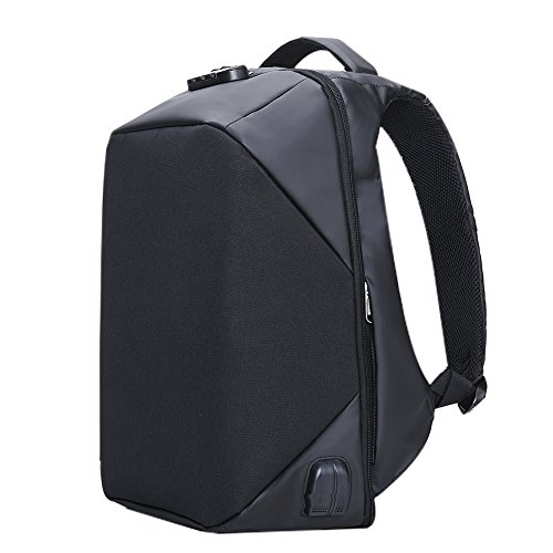 Imagen de kalidi portátil  con cerradura antirrobo  agua resistencia con usb puerto de carga conector de audio compatible con hasta 15.6inch laptop/notebook negro negro