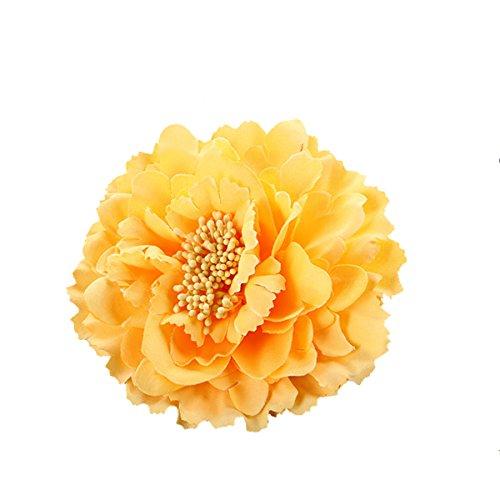 Butterme Mujeres Chicas Peony Flower Hair Clip Horquilla Adorno para El Pelo par...