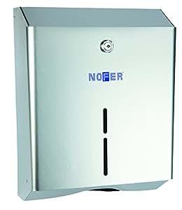 Nofer 04010.W Nova Distributeur d'Essuie-Mains en Z Acier Blanc 28 x 13 x 36 cm