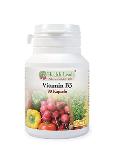 Vitamin B3 (Niacin) 50mg x 90 Kapseln (Ohne Magnesiumstearat)