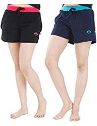 Nite Flite Women's Athletic Cotton Hot Shorts - Pack of 2