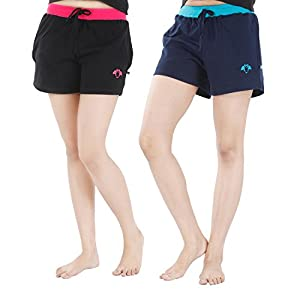 Nite Flite Women's Athletic Cotton Hot Shorts – Pack of 2