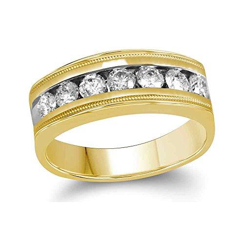Diamond2Deal Herren Damen Unisex Kinder - 10 K Gelbgold (10 Karat) Prinzessschliff Leicht Getöntes Weiß/Top Crystal (I) Diamant