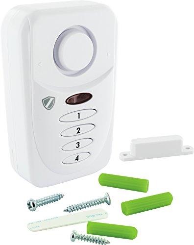 SCHWAIGER -HSA400- Tür- Fenster- Alarm mit PIN / Alarmanlage fürs Haus / Sirene / Einbruchschutz / Fenster-Sicherung / Tür-Sicherung