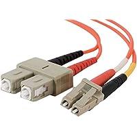 Cables To Go Cavo Patch in fibra di vetro (presa LC/SC Duplex, 62,5/125, Multimode, 1 (Multimode Duplex Lc Sc Fibra)