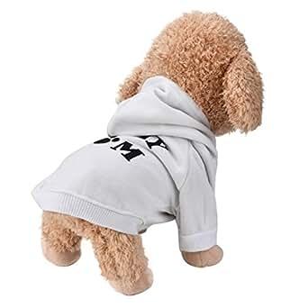 Culater® My Mom Pet Vestiti del Cane per Cani di Piccola Taglia del Cane Caldo Cappotto Giacca Primavera Autunno Giacca Cucciolo Yorkies Chihuahua Vestiti (XS, Bianca)