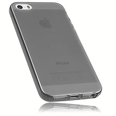 mumbi TPU Silikon Schutzhülle iPhone SE 5 5S Hülle transparent schwarz