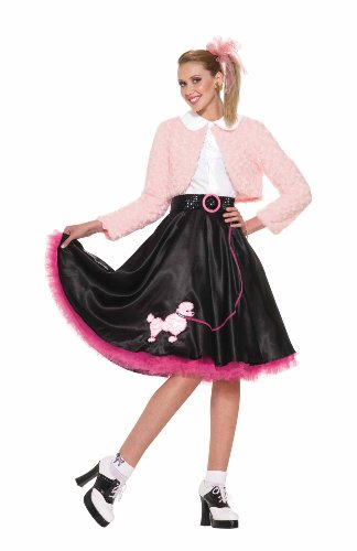 Pudel Kostüm Forum - 50's Sweetheart Deluxe Poodle Skirt Costume Set Adult Standard