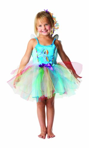 My Little Pony Kinder Kostüm Rainbow Dash Fee Karneval Gr.3-4 J.