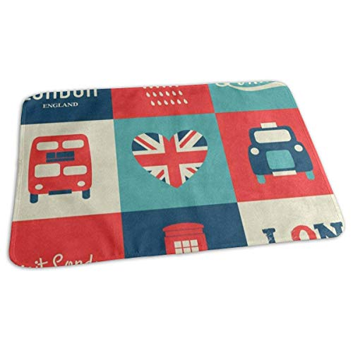 Voxpkrs Changing Pad Vintage London Style Telephone House Union Jack Baby Diaper Urine Pad Mat Fantastic Kids Mattress Cover Sheet for Any Places for Home Travel Bed Play Stroller Crib Car