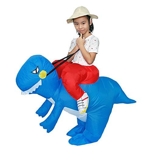 ASHOP Tuta Tuta Del Partito Costumes Il Costume Divertente Gonfiabile Del T-Rex Del Dinosauro Dei Vestiti Di Carnevale Jumpsuit (120-150 Taglia unica, Blu)