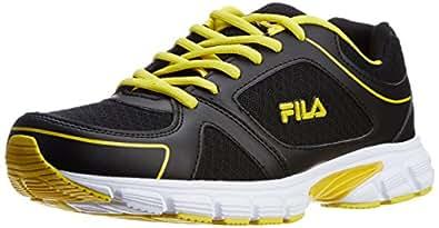 Fila Men's Run Fast Black and Yellow  Running Shoes -11 UK/India (45 EU)