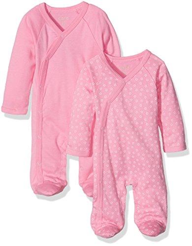 Care Baby-Mädchen Schlafstrampler, 2er Pack, Rosa (Rosebloom 571), 6 Monate (Herstellergröße: 68)