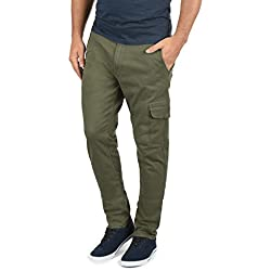 Blend Gustavo - Pantalon Cargo Clásico, Tamaño:W31/32, Color Dusty Green (70595)