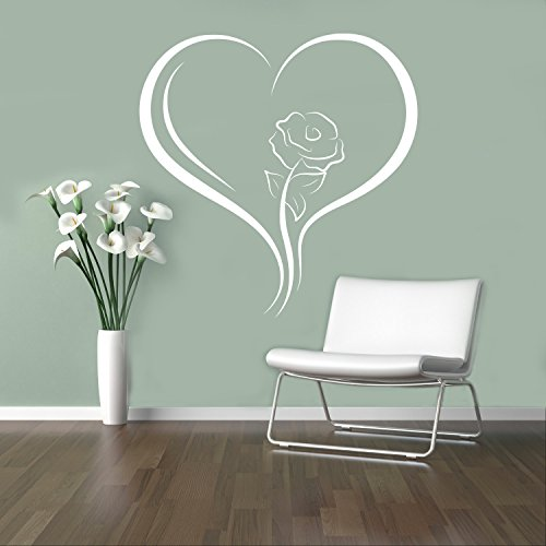 decorrooms-corazon-con-rose-pared-vinilo-romantica-decoracion-dormitorio-decoracion-arte-de-pared-vi