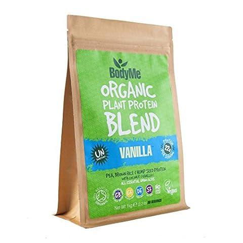 BodyMe Organic Vegan Protein Powder Blend   Raw Vanilla  