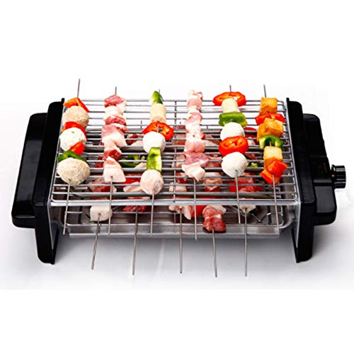 WSJS Double Grills Smokeless Non-Stick Pan Barbecue Machine Home Electric Grill Barbecues Table Outdoor Garden BBQ Utensil Top and Bottom at The Same Time