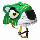 YxFlower Casque Securite Enfant - 3D Tigre Casque Vélo Réglable Enfant pour...