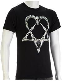 Bone Heartagram,T-Shirt,Grösse M,Schwarz