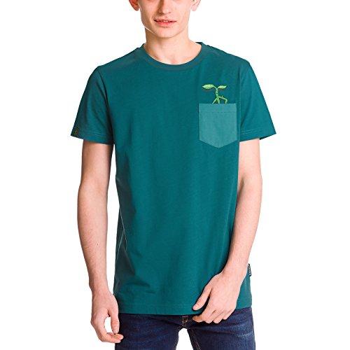 sen Herren T-Shirt Bowtruckle Pickett von Elbenwald Baumwolle Petrol - S ()