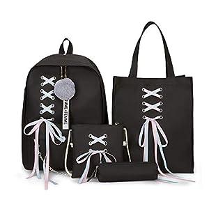 Greetuny Mochila con USB y Auriculares para Colegios Mujer Mochila de Moda Impermeable Mochilas Escolares Juveniles para…