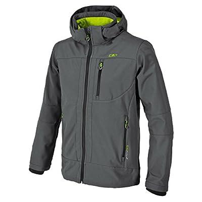 CMP Campagnolo Herren Wander Freizeit Softshell Jacke mit Abnehmbarer Kapuze grau von F.LLI Campagnolo - Outdoor Shop