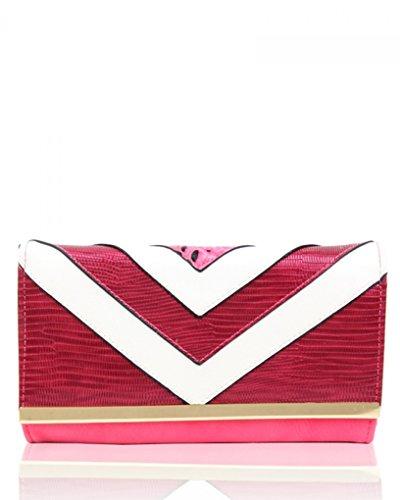 LeahWard Große Taschentaschen für Frauen Damen Designer Umhängetaschen Qualität Geldbörse für sie CW160118 (Orchid Passende Geldbörse) (Leder Orchid Faux)