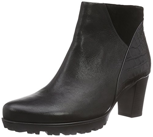 Gabor Calista, Bottines À La Cheville, Rembourrage Léger Femme Black (black (black Leather))