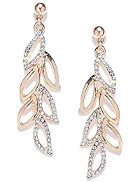 Shining Diva Fashion Stylish Fancy Party Wear Traditional Gold Plated Drop Earrings for Women (9850er)