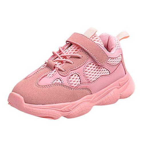 Sllowwa Babyschuhe Jungen Mädchen Baby Unisex Kinder Lauflernschuhe Krabbelschuhe Freizeit im Freien Freizeitschuhe Atmungsaktiver Mesh Schuhe(Pink,24)