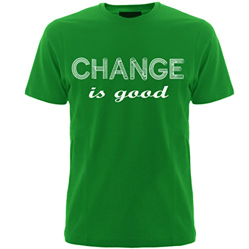 Geefasion tshirts-Set of 1-Men Round Neck Tshirts-CHANGE IS GOOD Printed T-Shirts