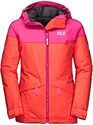 Jack Wolfskin Mädchen Powder Mountain Jacket Jacke, Orange Coral, 116
