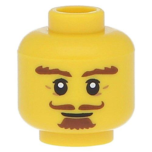 Bart rotbraun, Ziegenbart, lockiger Schnurrbart, Gelb (Lockiger Bart)