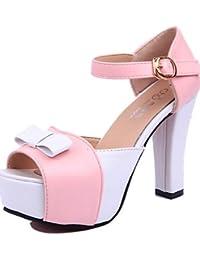 799be855c ggx verano sintética zapatos de tacón para mujer tacones Casual Chunky  talón otros color rosa