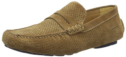 Melvin & Hamilton Driver 4, Mocassins Homme Braun (Suede Perfo Tan RS Navy)