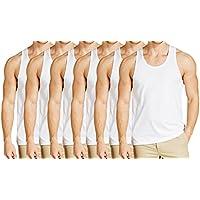Pride Apparel Mens Vest 100% Premium Combed Cotton White Vest Innerwear Pack Of 6 (90 Cm)