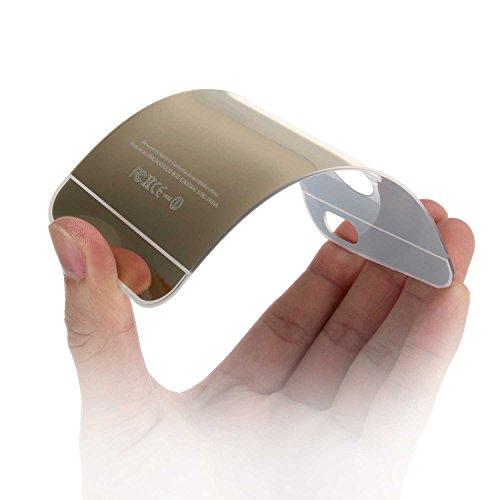 """Miroir Coque Pour iPhone 6 [4.7""""], Noir Métal Mince Noble Accessoires Série AOFad AB018 AB019+Gold"""