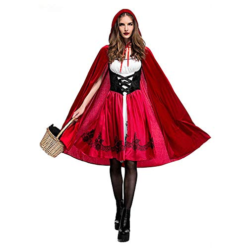 Youth Union Halloween Rotkäppchen Kostüm Damen Kinder mit Umhang für Party Weihnachtsfeier Rollenspiel Cosplay Karneval Verkleidung Party Nachtclub ()
