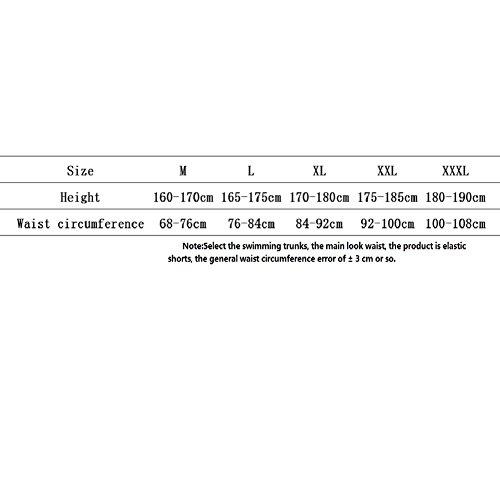 LJ&L Herren-Schwimm-Shorts, Sommer-Strand Strand Profi-Sport-Shorts, komfortable atmungsaktive Stretch-Stoff schwimmen Stämme B