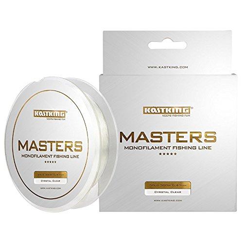 KastKing - Hilo de pescar Masters monofilamento de campeonato, serie profesional, lanzamiento supersuave, resistencia a la abrasión y fuerza superior(fabricante ganador de premios), Crystal Clear