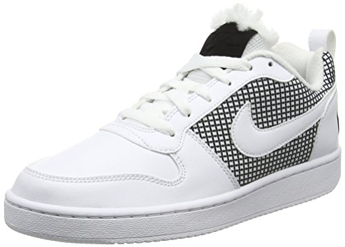 Nike Court Borough Se, Scarpe da Basket Donna, Bianco White/Black, 40 EU