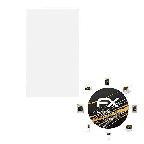 atFolix Panzerfolie kompatibel mit MSI Wind U160 Schutzfolie, entspiegelnde & stoßdämpfende FX Folie (2X)