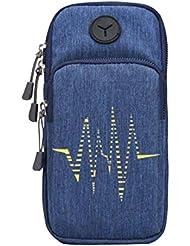 Sac de téléphone cellulaire créatif Sac pratique pratique pour le sport en plein air, Bleu