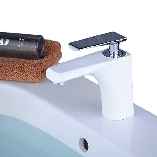robinet salle de bain blanc