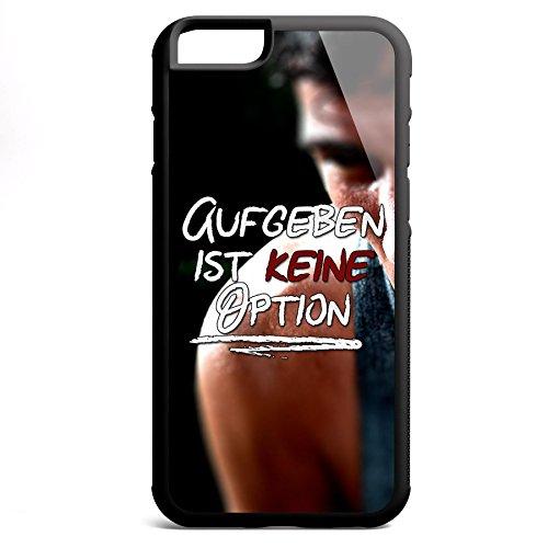 Smartcover Case Aufgeben ist keine Option z.B. für Iphone 5 / 5S, Iphone 6 / 6S, Samsung S6 und S6 EDGE mit griffigem Gummirand und coolem Print, Smartphone Hülle:Samsung S6 EDGE weiss Iphone 6 / 6S schwarz