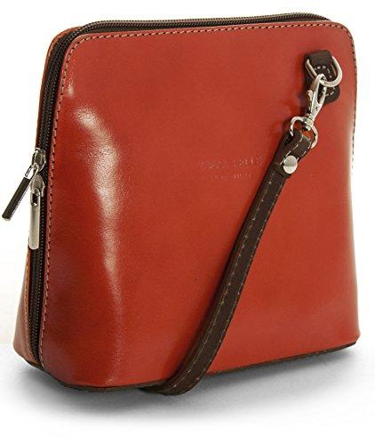 Big Handbag Shop, Borsa a tracolla donna One Burnt Orange - Brown