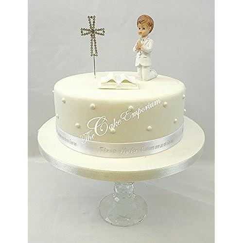 Boy Cross Cake Topper For Communion